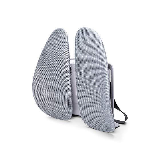 miekze Lumbar Support, Adjustable Backrest 3D Mesh Breathable Ergonomic Back Support Lumbar Pillow for Computer/Office Chair, Car Seat etc. (Grey)