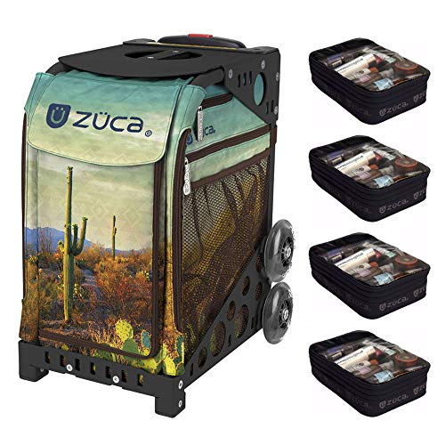 ZUCA Desert Sunrise Sport Artist Bag with Black Frame and Four Large Utility Pouches