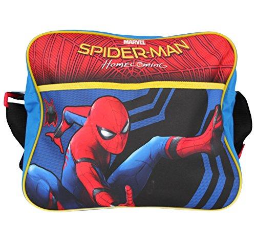 Spiderman Boys Marvel Home Coming Backpack Cross Body Shoulder Satchel Hand Luggage Holiday School Bags (Shoulder Bag)