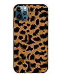 Stilluxy Compatible with iPhone 12 pro max case Tempered Glass Phone Cover Leopard Slim Print Cute 6.7 inch