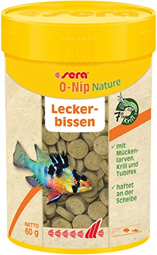 Sera O-Nip Treat Tablets Fish Food, 2.1 Ounce Container