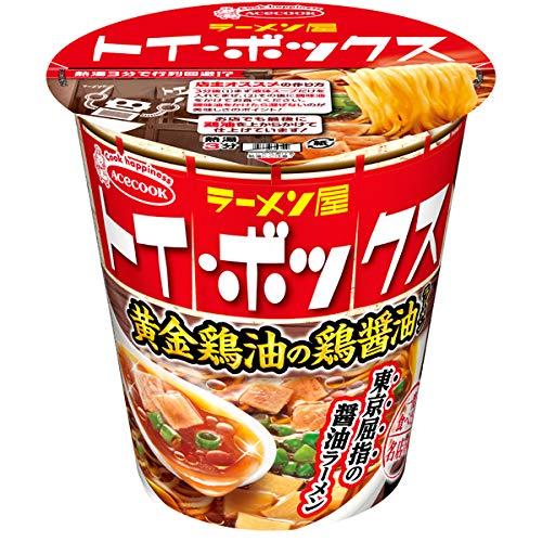 エースコック 一度は食べたい名店の味 ラーメン屋トイ・ボックス 黄金鶏油の鶏醤油ラーメン 12入