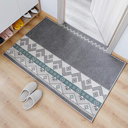 Kuingbhn Bath Mat Non Slip Not Easy To Shed Hair Easy To Clean Bath Rug Light Grey 40×60cm