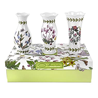 Portmeirion Botanic Garden Vases, Mini, Set of 3