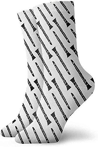 hdyefe Klarinette Musikinstrument Frauen Männer Socken Neuheit Socken Kleid Socken Casual Fashion Strümpfe 30CM