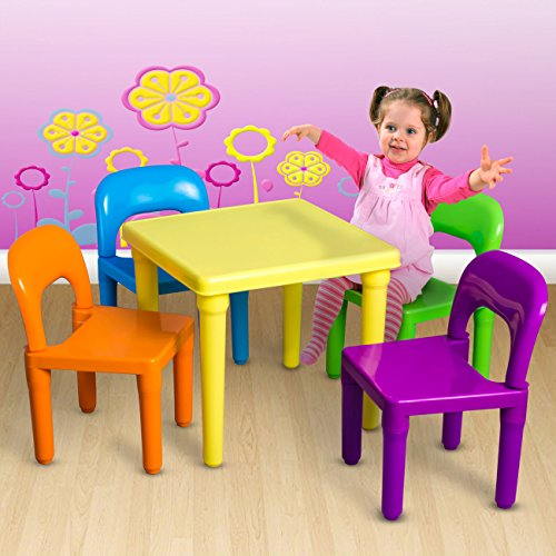 Price comparison product image Generic YC-US2-160606-146 Outdooroddler Chil Toddler Child Kids Table and Toy Activity Chairs Play Set Furniture In-Outdoor Kids Table