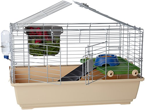AmazonBasics Small Animal Cage Habitat With Accessories - 32 x 22...