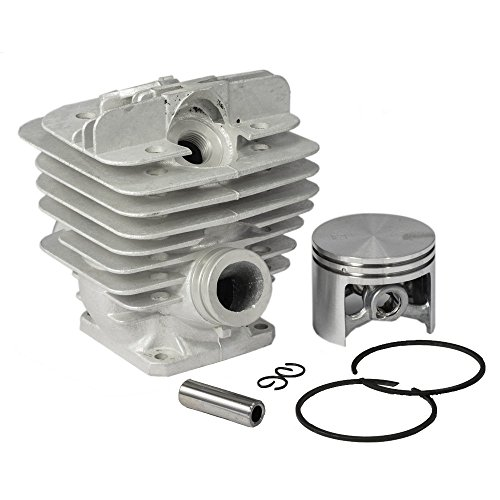 SaferCCTV 48mm Cylinder Piston Rebuild Assembly Kit Compatible with Stihl 034 036 MS360 ms340 Chainsaws Replacement Part# 1125 020 1215/1125 020 1213