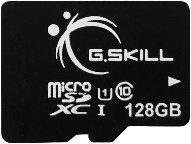 G.Skill 128GB microSDXC CL10 UHS-1 Memory Card with SD Adapter