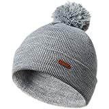 帽子 ピーズ暖かい冬の帽子ニット帽ソリッドカラーメンズレディースおびただしいビーニーニュートラル (Color : Light Gray)