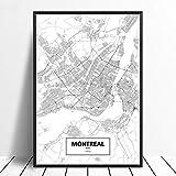 Leinwanddruck,Montreal Quebec Schwarz Weiß