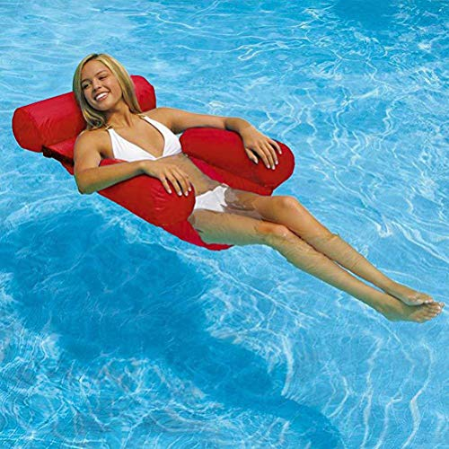 OUTDOORS Salón reclinable flotante, piscina, playa, reclinable inflable sofá de agua hamaca flotante cama flotante, sillón flotante, piscina flotante, respaldo de fila flotante inflable