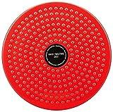Angleliu Twisting Waist Disc, Body Shaping Twisting Waist Aerobic Machine Rotating Board Female Twister Exercise Fitness Slim Sports Equipment (Big Round Beads(Red))
