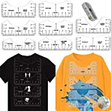 T-Shirt Alignment Tool, KYW 8 Pack T-Shirt Ruler Guide for Vinyl Alignment, Tshirt Craft Rulers Suitable for All Age Centering Tool HTV Alignment for Making Fashion Center Design. (Transparent)