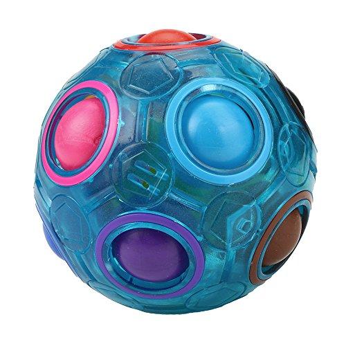 FAQUAN Magic Regenbogen Ball Zauberbälle, Zauberball 3D Puzzle Ball Spielzeug für Kinder Gastgeschenk, Geschicklichkeitsspiel - Spannendes Knobelspiel für Kinder und Erwachsene Mädchen und Jungen