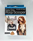 Kole Imports Easy Grip Poop Scooper with Bags - Box of 50