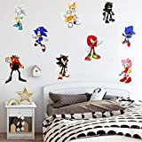 Sonic The Hedgehog Game Sticker Children's Cartoon Bedroom Background Wall Decoration Self-Adhesive Wall Sticker PVC