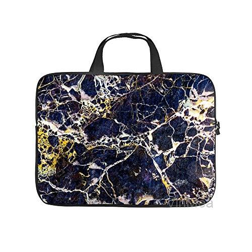 Neoprene Sleeve Laptop Handbag Case Cover Marble Stone Texture Patchword Portable MacBook Laptop/Ultrabooks Case Bag Cover 15-15.6 Inch