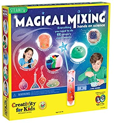 Creativity for Kids Magical Mixing DIY Sensory Science Kit – 11 Science Experiments for Kids 6-8, 8-12, Multi, (Model: 6250000)