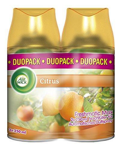 Air Wick Freshmatic Max Automatisches Duftspray Nachfüller, Citrus, Duo-Pack (2 x 250 ml)