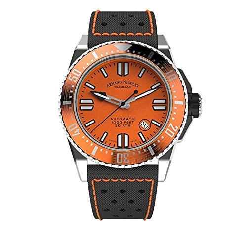 Orologio da Uomo Armand Nicolet Automatico JSS Arancione da Sub Impermeabile 300M A480HOA-OR-P0668NO8
