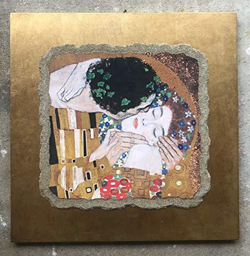 """Ars Martos - """"Il Bacio' Riproduzione d'Arte in Affesco su Intonaco. Disponibile in varie misure e finiture."""