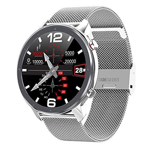 Voigoo Smartwatch Uomo, Orologio Smartwatch Uomo IP68, Dieci modalità Sportive,Rilevamento ECG, Orologio Smartwatch di Cardiofrequenzimetro, Orologio Sportivo per iOS Android Samsung Huawei