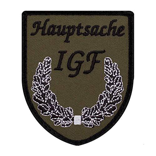 Café Viereck ® Bundeswehr IGF Fun Patch Gestickt mit Klett – 6,5 x 8 cm