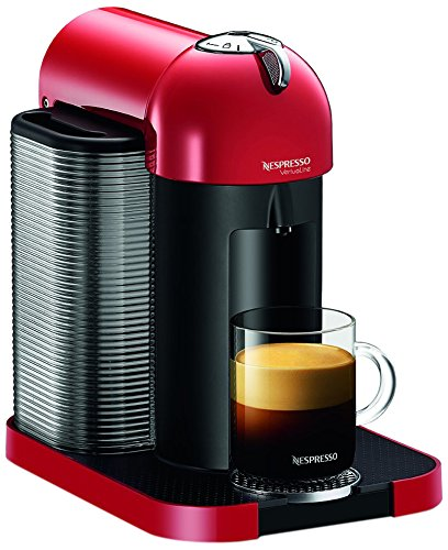 Nespresso GCA1-US-RE-NE VertuoLine Coffee and Espresso Maker, Red (Discontinued Model)