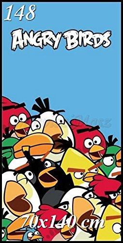 TFBBK Toalla de baño infantil (70 x 140 cm), diseño de Angry Birds 🔥