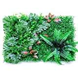 Wisson Planta De Cerca De Seto Artificial De 40 60 CM, Panel De Privacidad con Protección UV, Decoración De Paredes De Vegetación para Jardín Interior Al Aire Libre, Patio Trasero