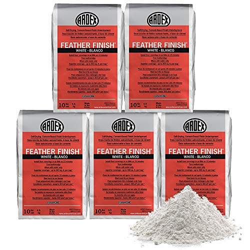Ardex Feather Finish White/Blanco Self-Drying Cement Based Bag 10 Lbs (5, White)