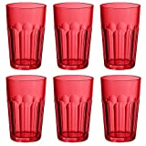 Guzzini Happy Hour rosso alto Ground tumbler, set di 6 bicchieri bibita