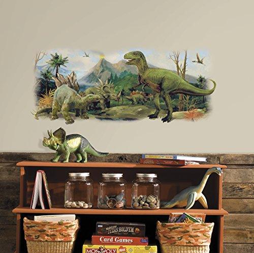 RoomMates Dinosaurier Szene Wandtattoo, Mehrfarbig