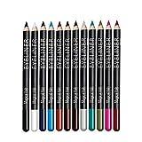 """12 Farben Eyeliner Set - wasserfest Kajalstift bunt Lidstrich, Augen Kosmetik Makeup als auch Augenbrauenstift (eyebrow pencil) von """"wunder X"""""""