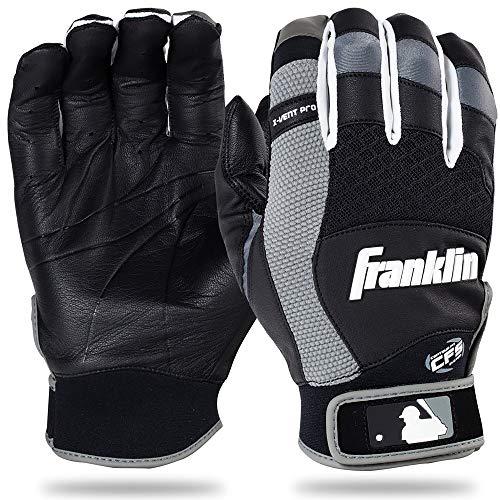 Franklin Sports 2016MLB x-Vent Pro Batting Handschuhe (Paar), Herren, schwarz/grau