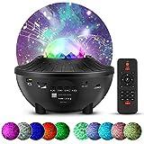 Proyector de Luz Estelar 21 Modos Lámpara de Nocturna Estrellas y Océano con Bluetooth/Control Remoto/Temporizador LED...
