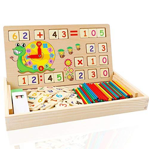Sunshine smile Mathe Spielzeug rechenstäbchen,Montessori Spielzeug Mathe,mathematisches Spielzeug...