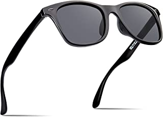 e734c97514 Polarized Sunglasses For Men Retro Black Frame Shades Classic Sun Glasses
