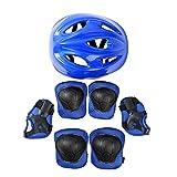 iEFiEL Casco de Protección Seguridad Mariquita Escarabajo para Niños Unisex Protección Infantil Consta de Casco Ajustable para Ciclismo Patinaje Monopatín y Deportes Extremos Azul B One Size