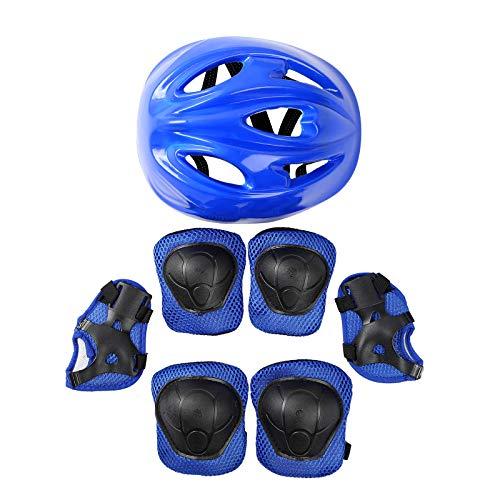 IEFIEL Casco Infantil de Bicicleta Casco de Protección Seguridad Ajustable para Niñas Niños Casco Tiburón Dinosaurio 3D Cartoon Animal Safety Helmets Azul E One Size