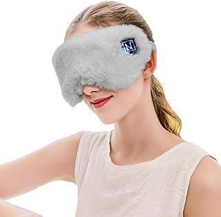 Aroma Season Wireless Heated Traveling Eye Mask with Sealed Battery, Relieve Dry Eyes, Eye Strain (Gray)