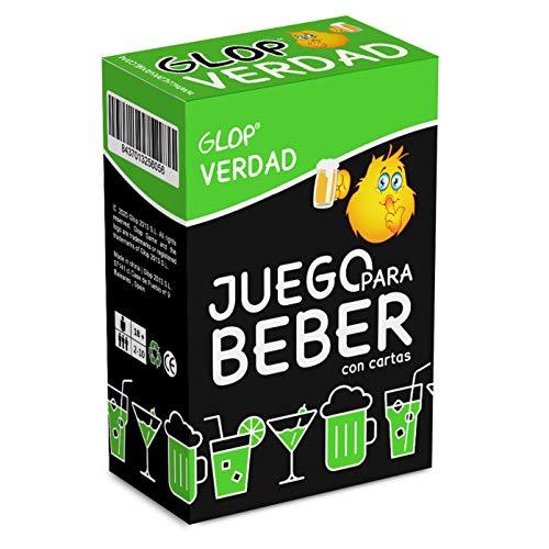 Glop Verdad - Juegos para Beber - Juegos de Mesa Adulto - Juegos de Cartas para Fiestas - Regalos Originales para Hombres y Mujeres - 100 Cartas