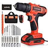 Cordless Drill with 2 Batteries, JUEMEL 20V Power Drill, Electric Screwdriver Drill Set