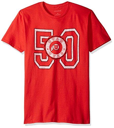 Camp David NCAA Cruiser Herren-T-Shirt mit Rundhalsausschnitt, Herren, Cruiser, rot, Small