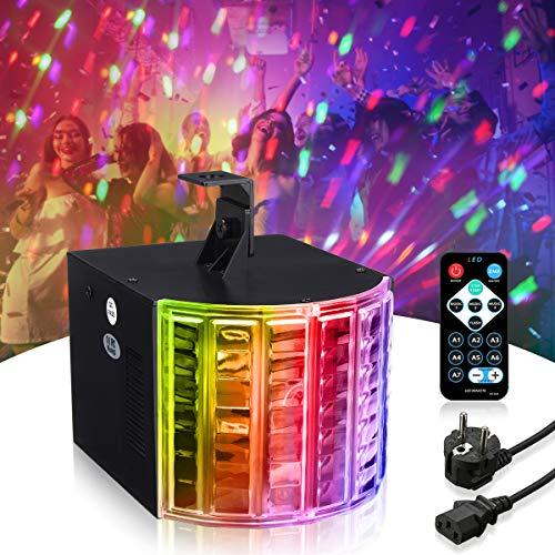 SOLMORE LED PAR Licht Disco Lichteffekte PA Licht RGB 3 Modus DMX Controller Projektor Stroboskop blitzer Lampe DJ Musikgesteuert Disco Effekt...