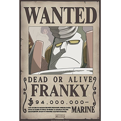 """ABYstyle - One Piece – """"Wanted Franky New"""" Poster (52 x 35)"""