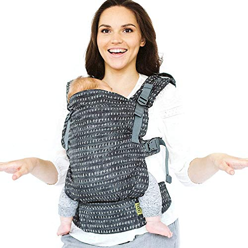 Fular Boba X Portabebés - Adaptable, Micro- Mochila de Estructura Suave y Ajustable para los Bebés de 7 - 45 lbs (Denim Rain)