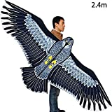 Cometa Grande Con Forma De Águila, 1,8 M / 2,4 M Cometa Grande Con Forma De Águila Adecuado Para Niños Adultos (sin Carretes), Viento Ligero Cometa Infantil - Inmediatamente Listo Para Volar