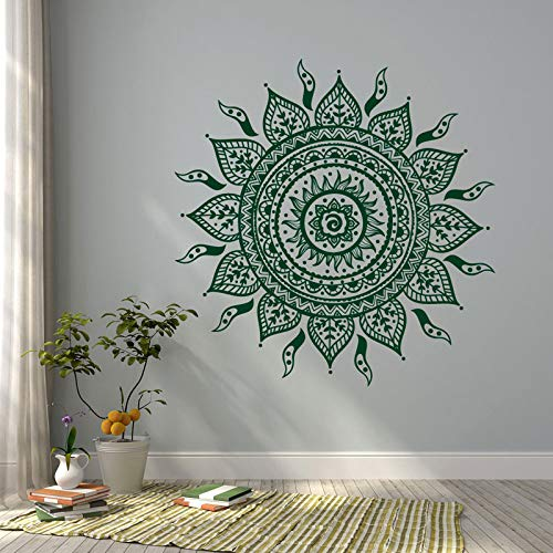 Mandala vinyl muurstickers bohemien bohemien slaapkamer mandala muur kunst mandala raamstickers